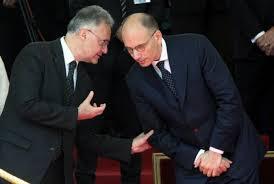 Il Ministro Mauro con il Presidente Letta