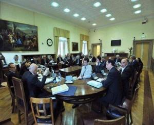 L'aula della Commissione Difesa della Camera
