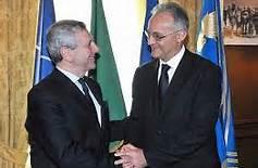 L'amm. Di Paola, ideatore della delega, con il Ministro Mauro