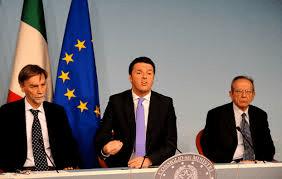 Renzi, Padoan e Dal Rio presentano il DEF 2014