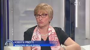 La sen. Roberta Pinotti, Ministra della Difesa