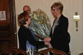 La dr.ssa A. Fava con la sen. Pinotti nel saluto dopo la nomina della Ministra