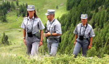 Guardie forestali in servizio
