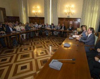 La Ministra Madia e le delegazioni sindacali in riunione