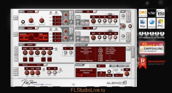 LinPlug Albino 3 v3.2.0 - VST плагин для FL Studio