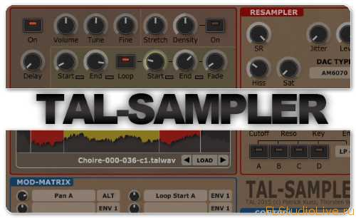 Скачать Togu Audio Line TAL-Sampler v1.8.4 VST Incl Keygen (WiN и OSX)