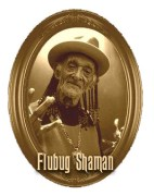 The Flubug Shaman has strange oracular powers. For five bucks he'll tell your fortune. For ten he'll tell you the truth!