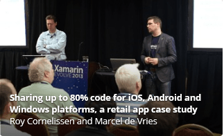 Sharing up to 80% code for iOS, Android and Windows platforms, a retail app case study
