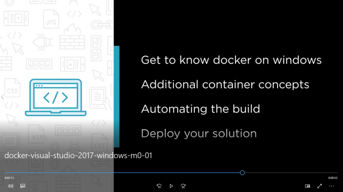 Just released: Introduction to Docker on Windows with Visual