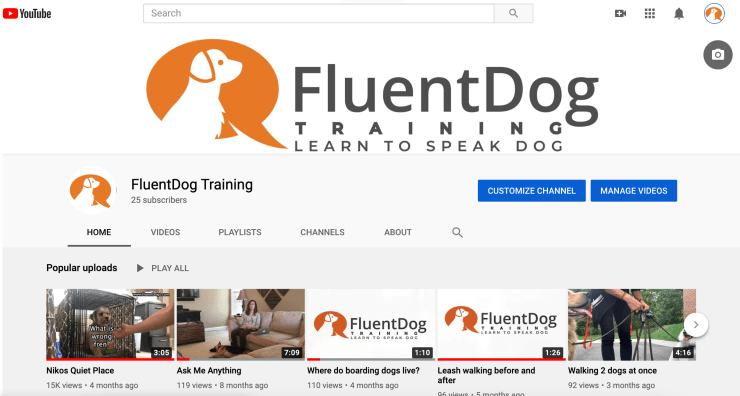 FluentDog Youtube