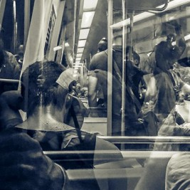 "Amy Phelps: Metallic Print Photograph ""Subway Sweat."""