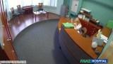 Hastanede rus kızla gizli çekim