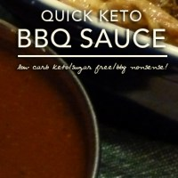 Quick Keto Barbecue Sauce - Low Carb | Sugar Free