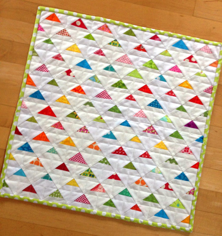 quilted triangle potholder by crazy mom quilts