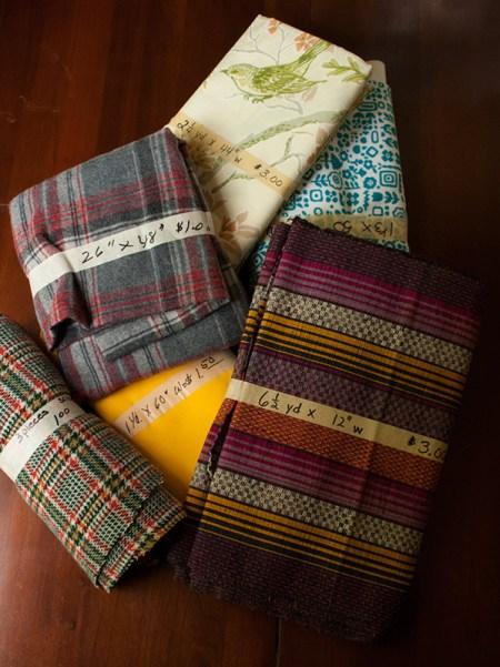 rummage sale - fabric cuts