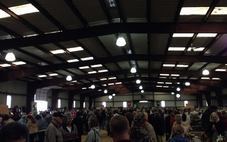 rummage sale in the horse barn