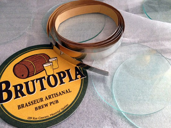 preserving cardboard coasters with glass