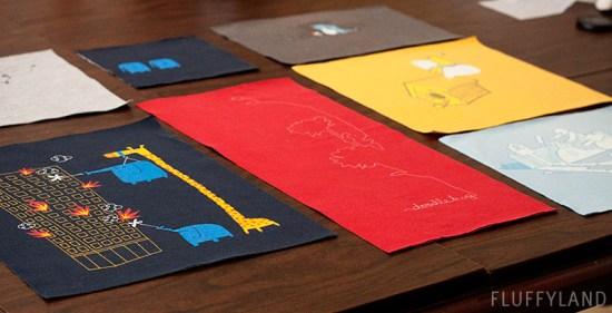 threadless t-shirt quilt: layout 1