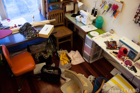 wiwo wednesday - messy sewing room