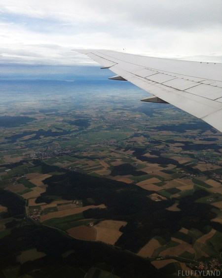 germany as seen from the plane window