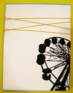 ferris wheel gocco cards by heatherjeany on etsy