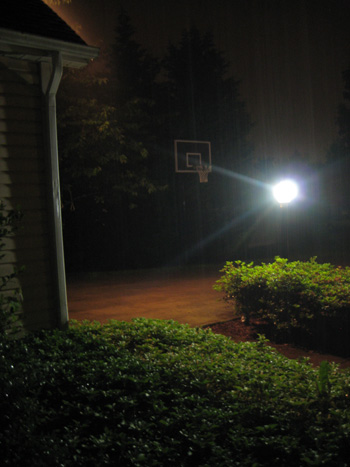 rainy night at home