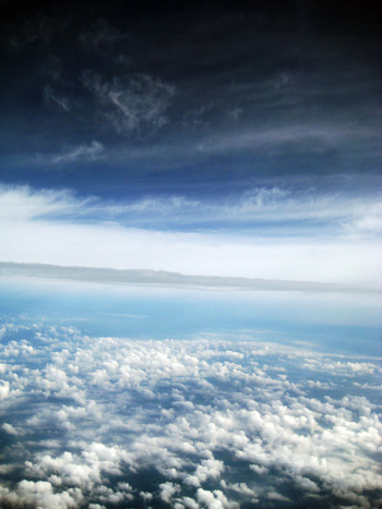intense clouds (from the plane)