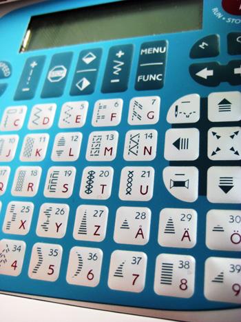 sewing machine number pad