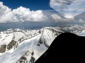 Anflug auf den Großvenediger-Gipfel in knapp 4000 m Höhe