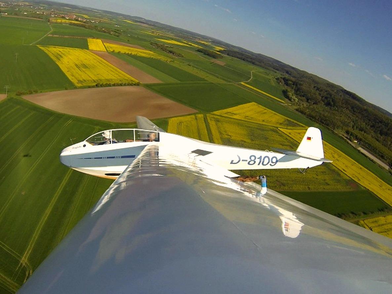 Bergfalke II D-8109 Flug Fläche