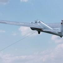 Windenstart Segelflugzeug Bocian