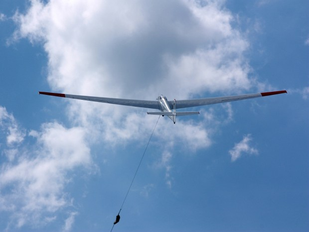 Windenstart Segelflugzeug