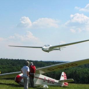 Bergfalke II D-8109 Landung