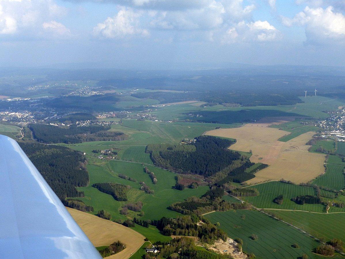Flugplatz Grossrückerswalde im Erzgebirge