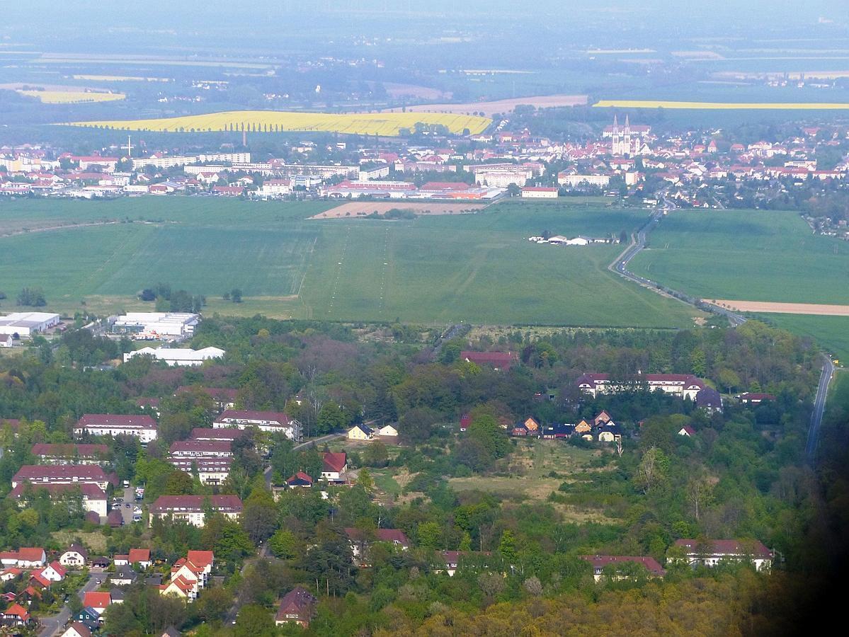 Flugplatz Oschatz Anflug Piste 08