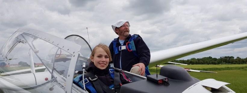 Ausbildung Flugschülerin im Bocian