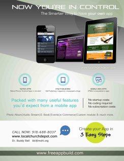 mobile app flyer-lcd