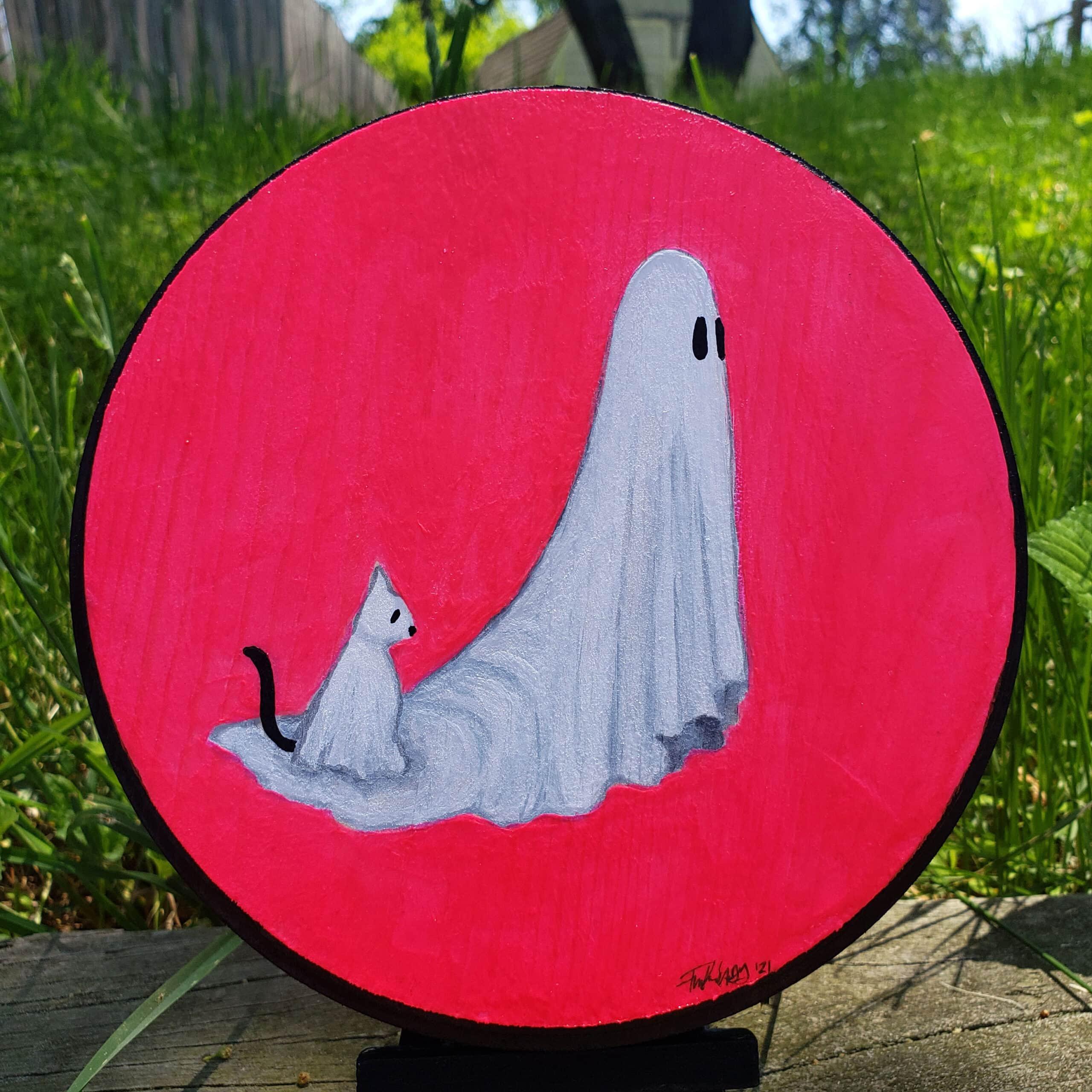 ghost ghost cat woodround