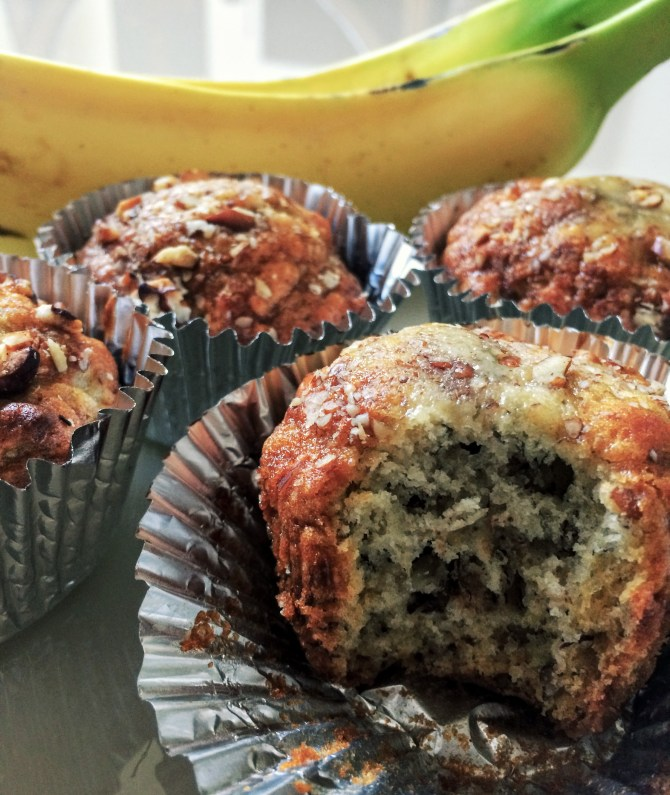 The World's Best Banana Nut Muffins!