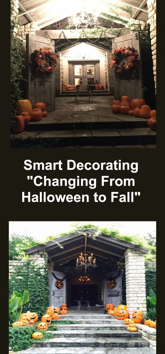 Smart Decorating  Changing From Halloween To Fall