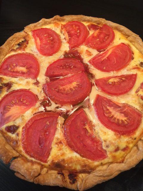 Pork Sausage, Tomato & Mozzarella Quiche