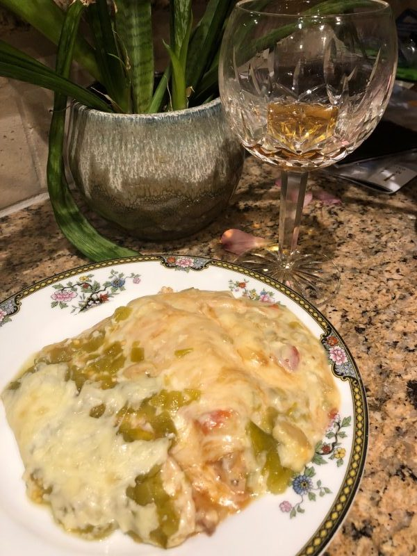 The Best Hatch Green Chile Chicken Enchiladas