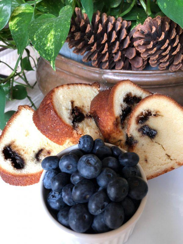 Rich, Decadent Blackberry Cream Cheese Pound Cake