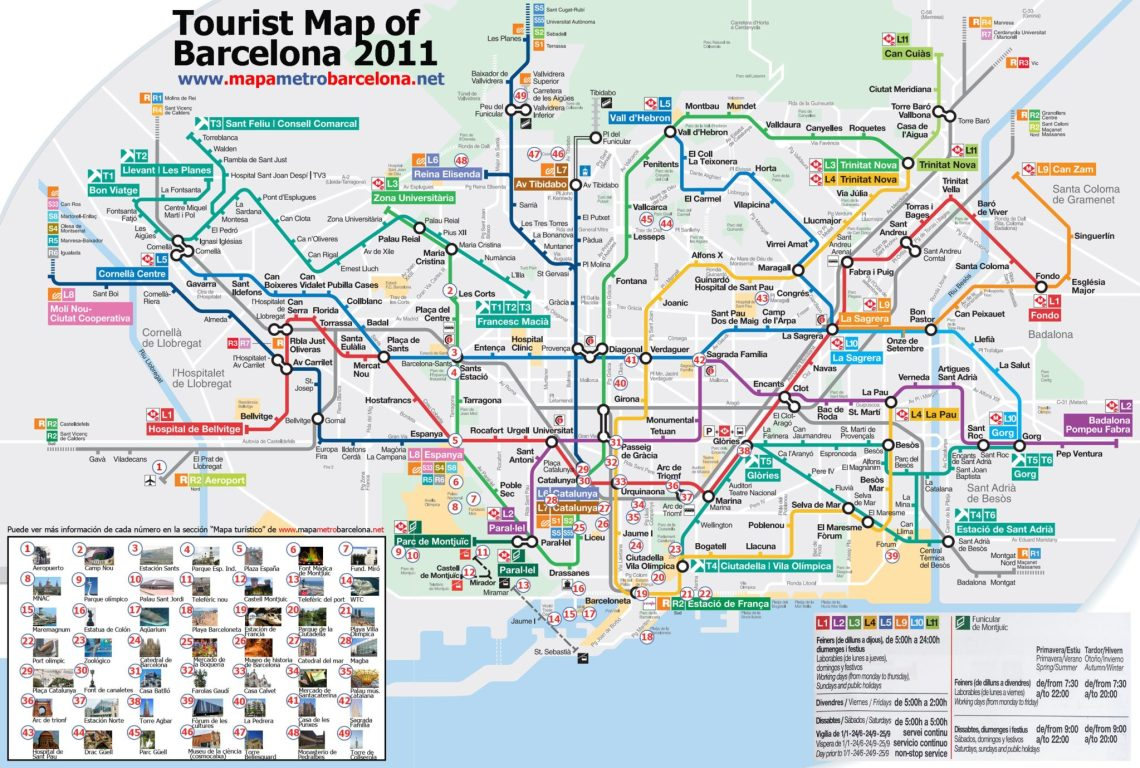 Metro Map - The Barcelona Stop Over - FlunkingMonkey