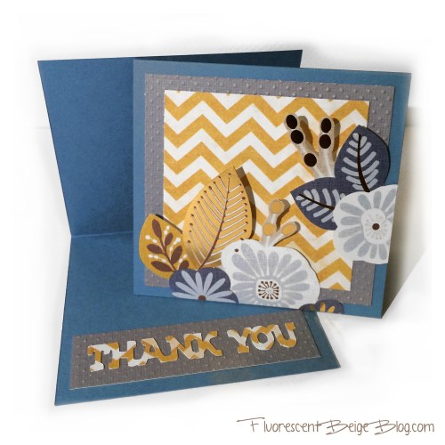 Floral Thank You Card Interior