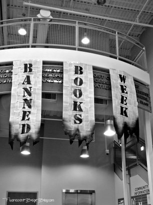 Banned Books Week lobby display