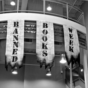 Banned Books Week lobby display