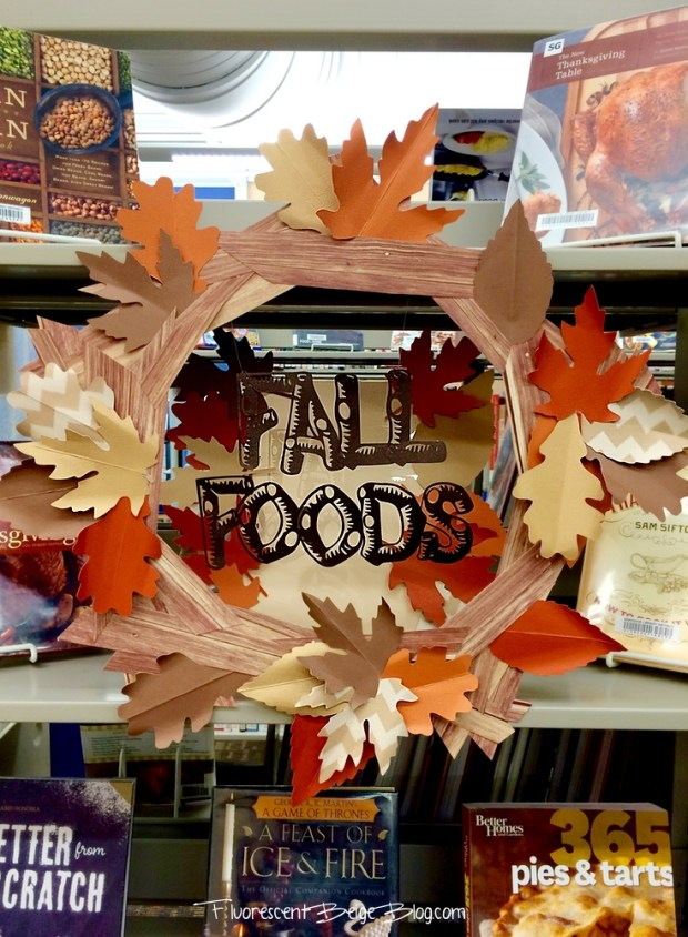 Fall Foods Paper Wreath Library Display