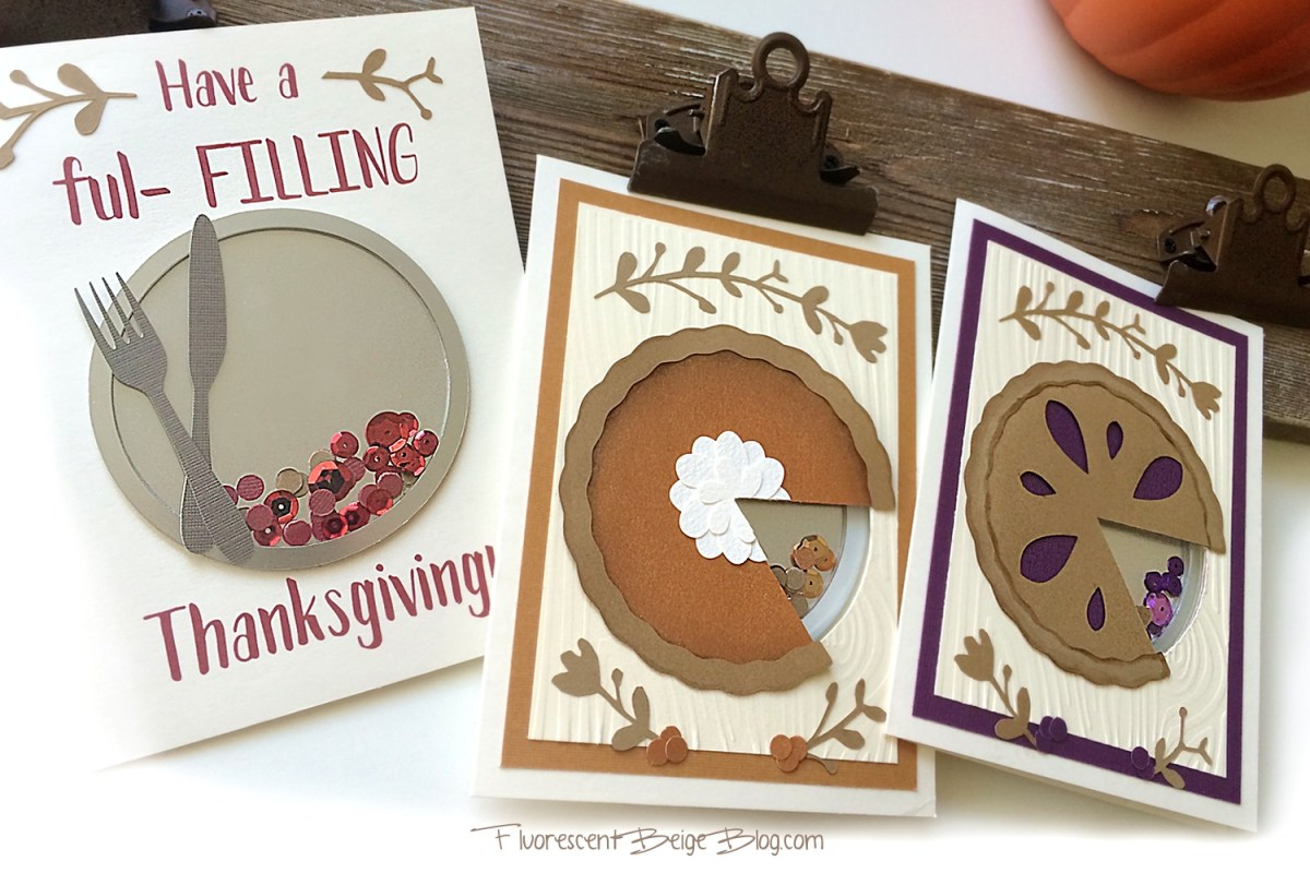 Pie Shaker Card #papercraft #Thanksgiving