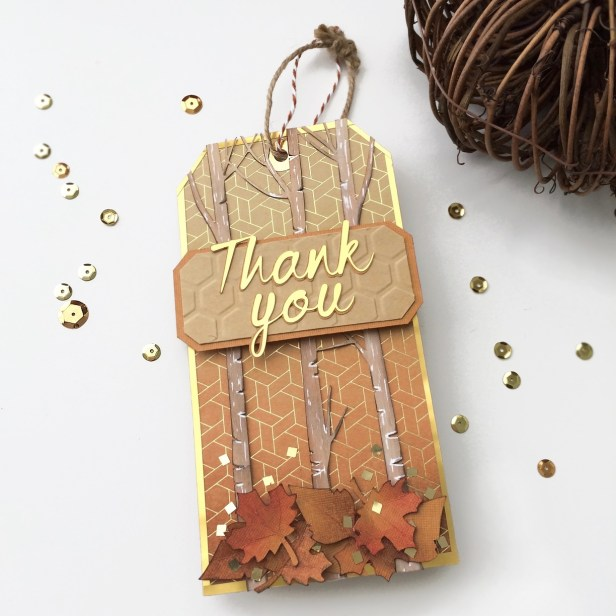 Fall Inspired Thank You Tag